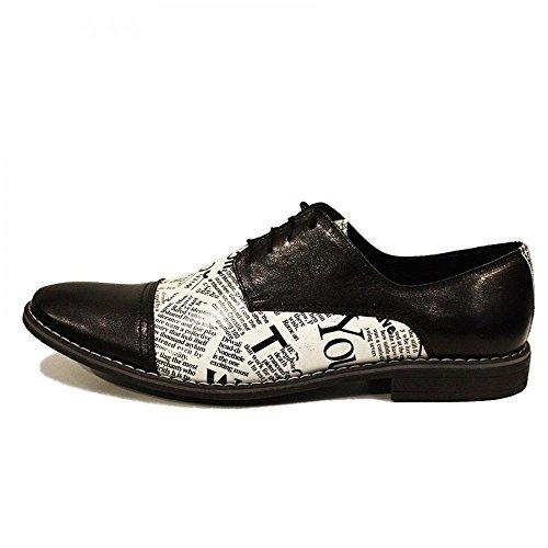 Modello Zaccharia - Cuero Italiano Hecho A Mano Hombre Piel Blanco Zapatos Vestir Oxfords - Cuero Cuero suave - Encaje