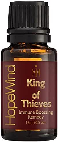 King Of Thieves Essential Oil Blend - 100% Pure Therapeutic grade Unique Organic Formula, Full 15ml - by HopeWind