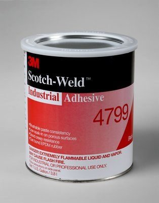 3M 4799 Industrial Adhesive, Black 1 Gallon Can (Pack of 1) product image