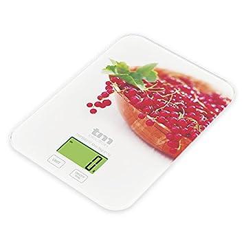 Tm Electron TMP BS-017 Báscula Digital de Cocina ultradelgada con diseño de arándanos, Pantalla LCD de 24 mm: Amazon.es: Hogar