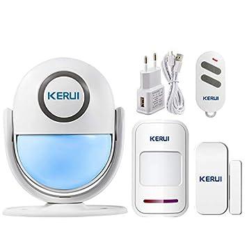 KERUI inalámbrico por Infrarrojos Sistema de Alarma Kit ...