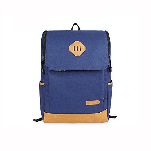 HQ Weiblicher Rucksack Computertasche 14 Zoll Reisetasche Studententasche Lässig Modetrend Unisex Blau Z47KlWy