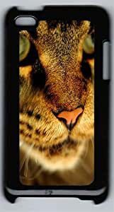 Angry Cat Face Polycarbonate Hard Case Cover for iPod 4 ¨CBlack
