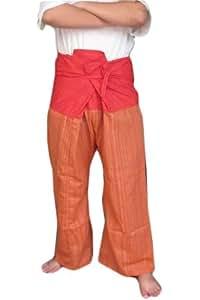 Nice Pants Yoga Trousers Thai Fisherman Plus Size Cotton Stripe FREE SIZE