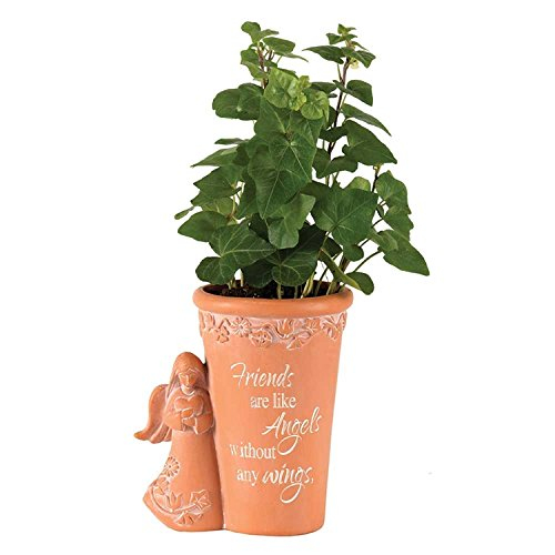 Dicksons Friends Are Like Angels Without Any Wings 5 x 4 inch Resin Flower Pot