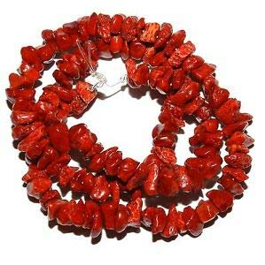 (CRL137 Dark Red Sponge Coral Small 6mm - 12mm Gemstone Chip Beads 15