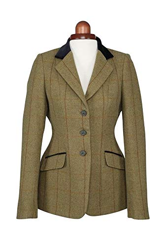 58ae06c33b800 Shires Aubrion Saratoga Womens Riding Jacket - Green Check: Amazon ...