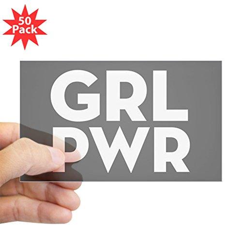 CafePress - Girl Power - Sticker (Rectangle 50 pk) by CafePress