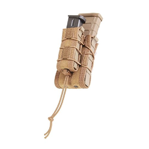 High Speed Gear Double Decker Taco Rifle & Pistol Mag Pouch, Molle, Color Coyote Brown