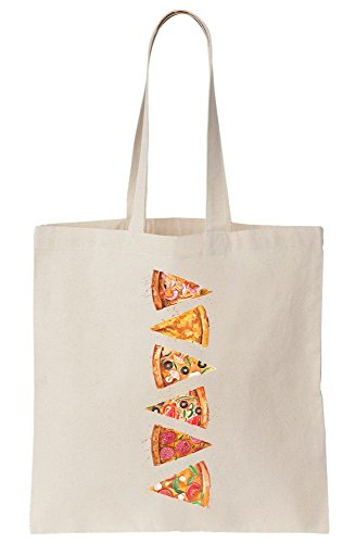 Tote Slices Canvas Pizza Artwork Bag xt8OqnfY