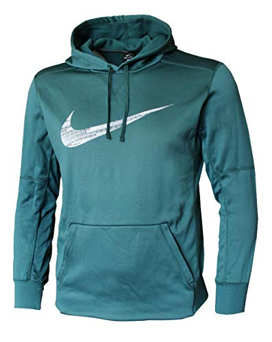 NIKE Men's Dry Training Hoodie Green (X-Large) from NIKE