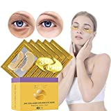 30 Pairs 24K Gold Under Eye Patch, Eye Mask, Collagen Eye Patch, JUYOU Eye Pads For Anti-wrinkles, Puffy Eyes, Dark Circles, Fine Lines Treatment