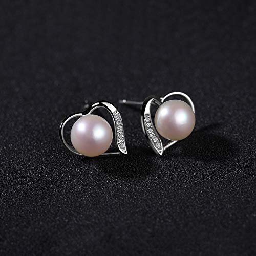 Silver 925 Earrings Heaxgon White Nacre Natural Pearl