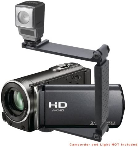 Accommodates Microphones Or Lights Aluminum Mini Folding Bracket for Sony Handycam DCR-SR65