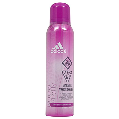 adidas Natural Vitality Deodorant Spray for Women, 5 Ounce - Perfumed Deodorant Natural Spray
