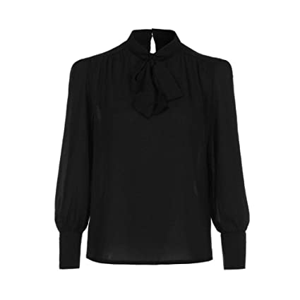 Mujer blusa elegantes,Sonnena ❤ Camisa de manga larga de gasa casual mujer color