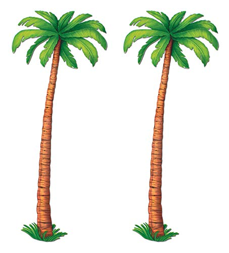 Beistle S55137AZ2 Jointed Palm Trees, 6', Green/Brown]()