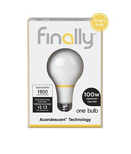 1 Light 100 Watt Bulb (Finally Light Bulb Company Acandescent 100W A19 Replacement Warm White (2700K) - 1)