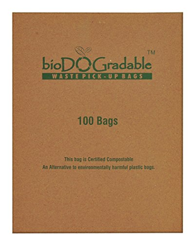 bioDOGradable Poop Bags Dog Waste Bags, Not Made from Plastic 100 Single-Pull Bags (2500 Bags) by bioDOGradable Bags