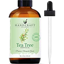 Handcraft Tea Tree Essential Oil - Huge 4 OZ - 100% Pure & Natural – Premium Therapeutic Grade with Premium Glass Dropper