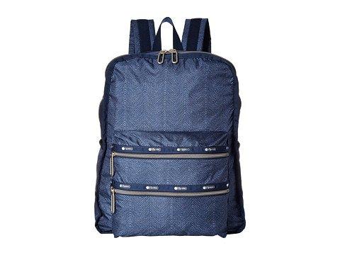 (レスポートサック) LeSportsac レディースファッションバッグパックリュック Functional Backpack [並行輸入品] B06XFZQ277 One Size (OS)|Herringbone Blue Herringbone Blue One Size (OS)