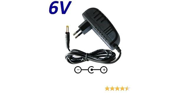 Cargador Corriente 6V Reemplazo Tensiometro Omron M3 M2 M7 Recambio Replacement: Amazon.es: Electrónica