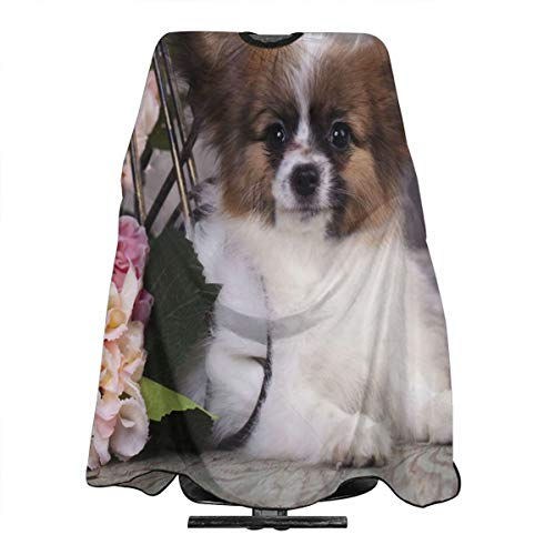 Hair Cutting Cape Papillon Puppy Butterfly Dog Fantastic Hair Salon Hairdressing Apron Polyester Water Resistant