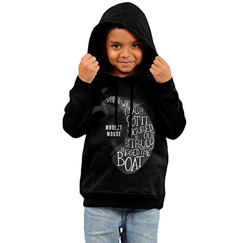 [RTRY Kids Modest Mouse Boy's & Girl's Hooded Sweatshirt Black Size 2 Toddler] (Modest Nerd Costume)