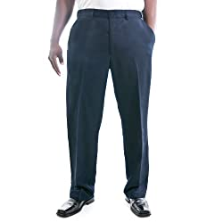Haggar Men Cool 18 Gab Plain Front Pants 44w X 34l Navy
