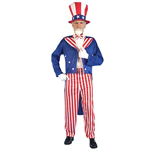 Forum Patriotic Party Uncle Sam Costume, Red, Standard