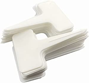 Garden Tags 100 Pcs Plant Markers Plastic Plant Labels for Seedlings Waterproof Durable 2.36 x 3.94 Inch T-Type Garden Markers