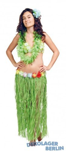 Hawaii Lei Skirt 80cm - Green By Creative by Creative