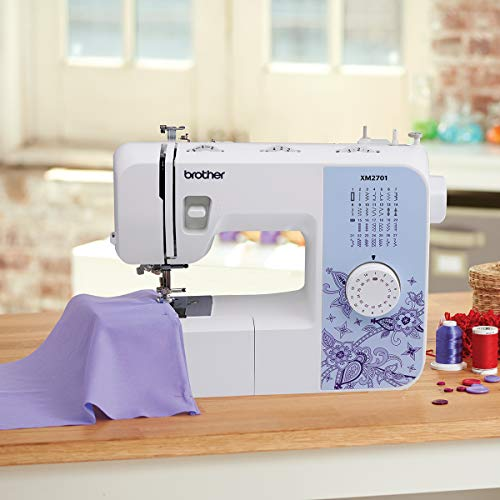 Brother XM2701 Sewing Machine, Lightweight, Full Featured, 27 Stitches, 6 Included Feet