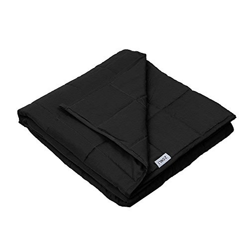 41sZtcICF8L - Dr. Hart's Weighted Blanket Kid's Quilt | Heavy Gravity Blanket for Anxiety Relief & to Improve Sleep | Natural Sleep Aid & Stress Relief | Calming Weighted Comforter & Cover | 15 lbs | 60x80