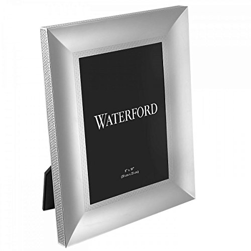 LISMORE DIAMOND patterned 8x10 silver frame by Waterford - 8x10