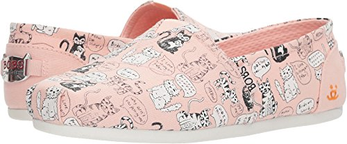 08e24c42b70f7 Skechers BOBS Women's Bobs Plush-Cat Attack Flat, Light Pink, 11 M US