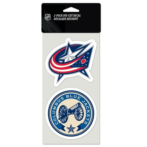 WinCraft NHL Columbus Blue Jackets Perfect Cut Decal (Set of 2), 4