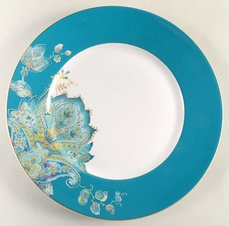 222 Fifth Norah Teal Dinner Plates Set of Four 10 7/8\u0026quot; Diameter & Amazon.com | 222 Fifth Norah Teal Dinner Plates Set of Four 10 7/8 ...