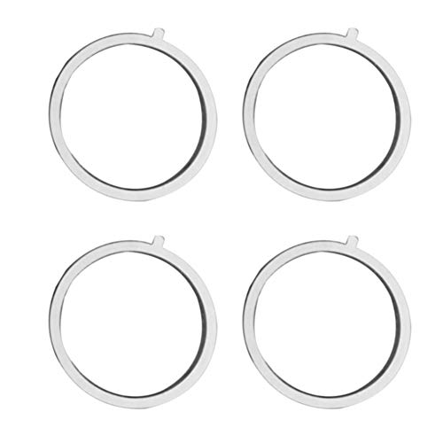 UIYU 4Pcs Universal Replacement Round Metal Ring For Magnetic QI Wireless Car Charger & Air Vent Magnet Car Mount Mobile…