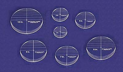 "7 Piece Circle Set - No Seam 4"" - 10"" ~ 1/4"" Thick - Long Arm -Multi Use"