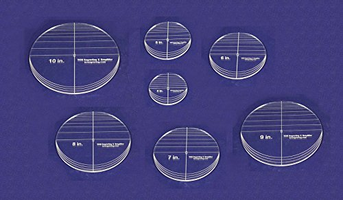7 Piece Circle Set - No Seam 4'' - 10'' ~ 1/4'' Thick - Long Arm -Multi Use by TCR Templates