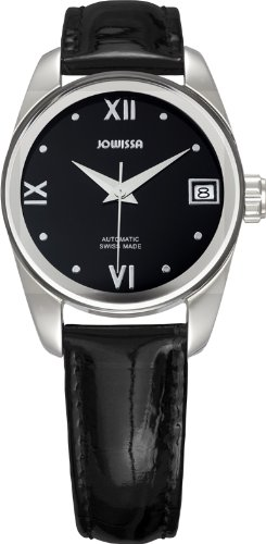 Leather Monte Carlo Watch (Jowissa Men's J4.054.L Monte Carlo Stainless Steel Silver Dial Brown Leather Automatic Date Watch)
