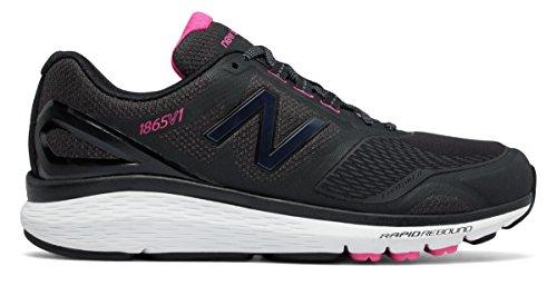 浸す区別するスリット(ニューバランス) New Balance 靴?シューズ レディースウォーキング Pink Ribbon 1865 Black with White and Komen Pink ブラック ホワイト ピンク US 10.5 (27.5cm)