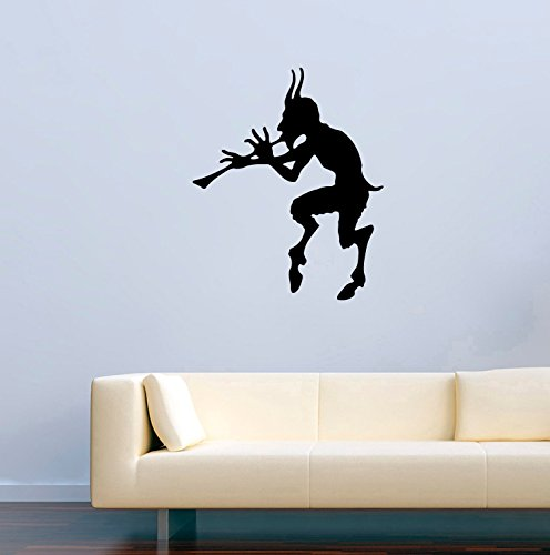 Halloween Vinyl Wall Decals Silhouette Evil Halloween Devil