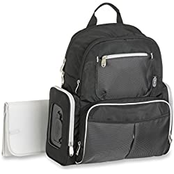 Graco Gotham Smart Organizer System Back Pack Diaper Bag, Black/Grey