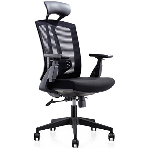 CMO 24 Hour High Back Mesh Office Reclining Ergonomic Chair With Leather  Headrest And Flexible PU Armrest, Big U0026 Tall Modern Executive Chair For  Home Office ...