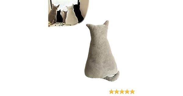 1 cojín divertido con forma de gato, cojín de animales de peluche para mascotas, sofá, silla, almohadas de felpa suave, juguetes para decoración del ...