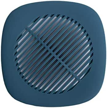 Gallity Silica Gel Kitchen Sink Strainers Sink Drain Filter Basket, Silicone Bathroom Hair Catcher Floor Drain Cover Sewer Filter (Blue)