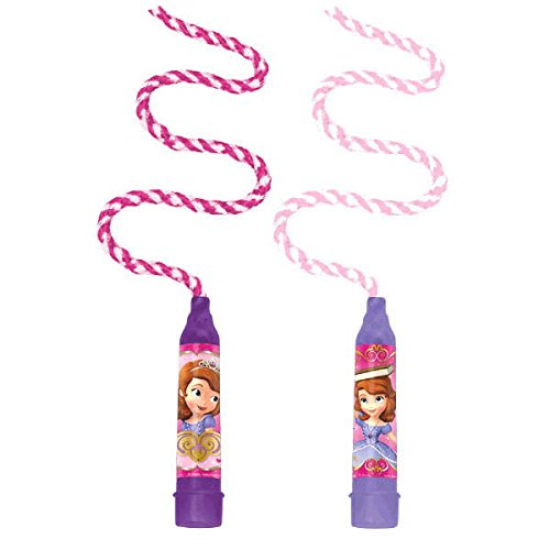 Amscan Disney Sofia the First Jumping Rope Princess Birthday Party Favour and Prize Giveaway (8 Pack), Violet/Purple, 6' 11''. Supplies (96 Piece)