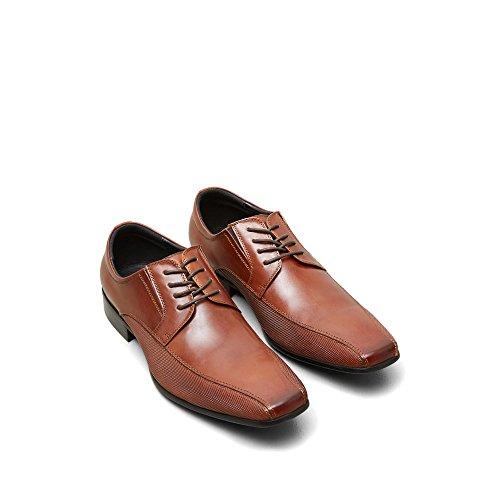 Reazione Kenneth Cole Cuoio Bro-ziale Shoe - Mens Cognac